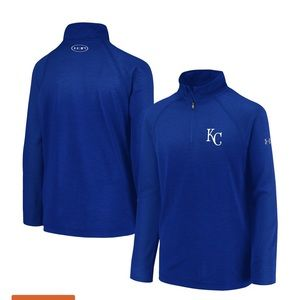 Under Armour KC Royals 1/2 zip long sleeve shirt